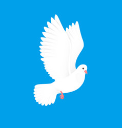 white dove free bird in sky paper pigeon flying vector image
