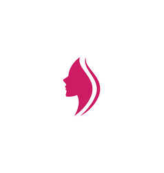women face silhouette vector image