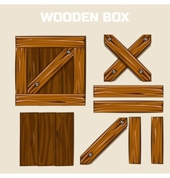Wooden Box and boards vector