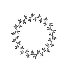 wreath icon design template isolated vector image