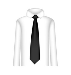 black tie with shirt icon vector image