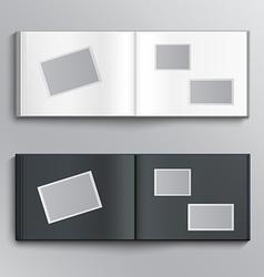 Blank photo album vector image vector image