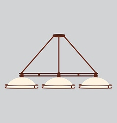 Pool lamp with three shades vector image vector image