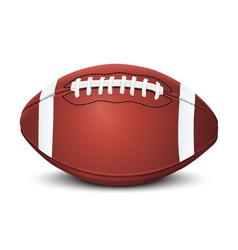 Realistic american football ball vector image vector image
