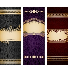 Set of luxury vintage bookmarks vector image vector image