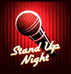 stand up comedians night show poster template vector image