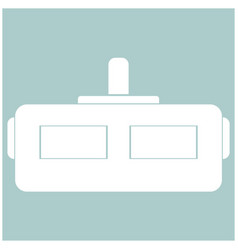 virtual reality helmet the white color icon vector image vector image