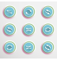 Arrow buttons vector image
