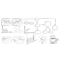 Charts doodles vector image