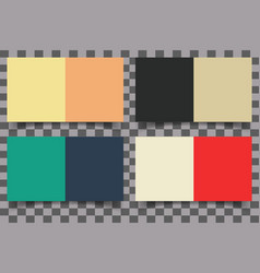 colored squares with shadow vector image vector image