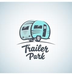 RV Van or Trailer Park Logo Template vector image
