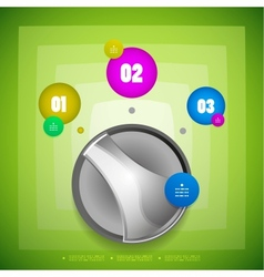 Knob option switch modern template vector image