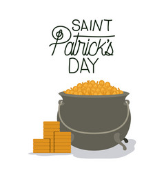 Poster saint patricks day with treasure in vector