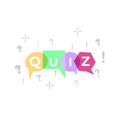 quiz vector image vector image
