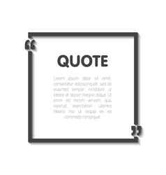 Quote bubble blank templates empty business card vector