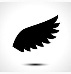 wing icon isolated on white background vector image