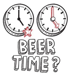 Beer time vector image vector image