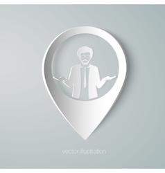 businessman web pointer icon vector image vector image