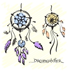 Dream catchers Native american traditional symbol vector image vector image