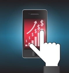 Phone graph vector image