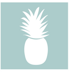 pineapple the white color icon vector image vector image