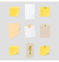 Sticker notes vector image vector image