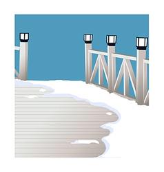 A view of a bridge vector