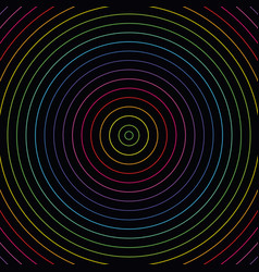 Abstract colorful neon lights circles background vector
