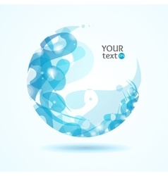 Abstract Sphere Blue vector