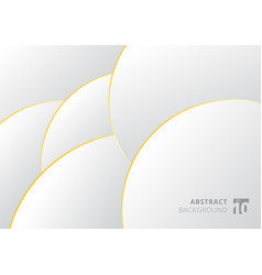 abstract white and gray gradient with gold border vector image