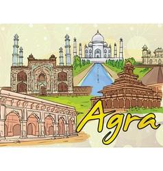 Agra doodles vector