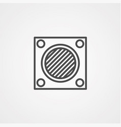 Air filter icon sign symbol vector