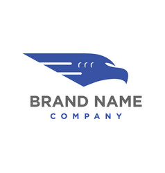 aircraft head logo vector image