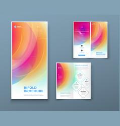 bi fold brochure design with liquid abstract vector image