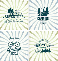 bicycle retro vintage background vector image