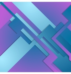 Blue purple geometric shapes background vector