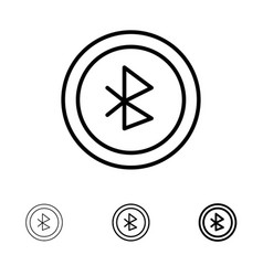 Bluetooth ui user interface bold and thin black vector
