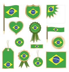 Brazil flags vector