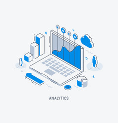business analytic isometric vector image