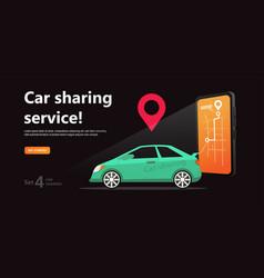 car sharing concept online transport service rent vector image