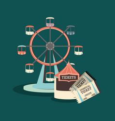 carnival ferris wheel design vector image