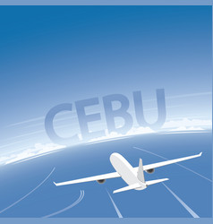 Cebu flight destination vector