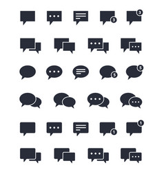chat speech bubble icons set message signs vector image