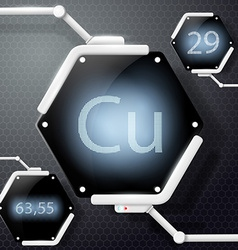 Chemical element copper vector