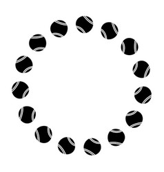 circle with tennis balls sport image vector image