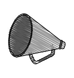 Color crayon stripe image cartoon megaphone flat vector