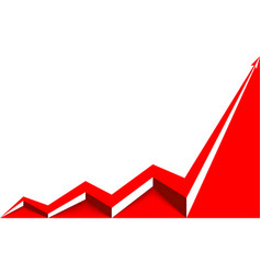 colored arrow graph goes up vector image