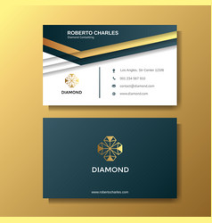 creative luxury business card with gold vector image