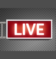 Creative of on air live vector