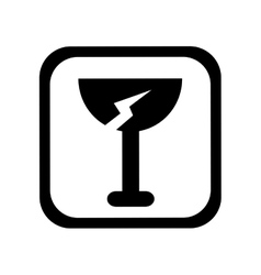 Cup fragile symbol isolated icon vector